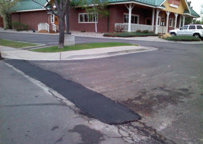 Outback Steakhouse Asphalt Patching by Black Pearl Asphalt