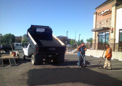 Cafe Mexicali Asphalt Patching Fill