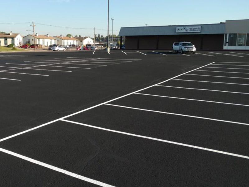 Overlayed Parking Lot by Black Pearl Asphalt Inc