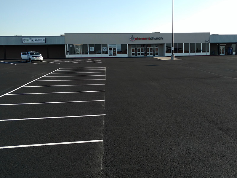 Asphalt Overlay Parking Lot