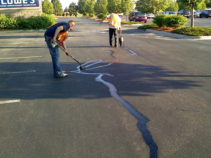 Lowes - Crack Fill by Black Pearl Asphalt Crew