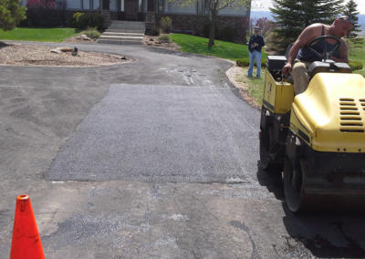 Residential Patched Driveway by Black Pearl Asphalt