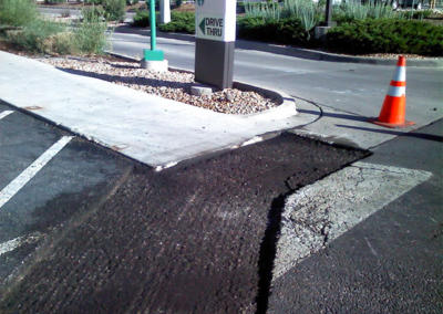Starbucks Drive Thru Milled Pavement