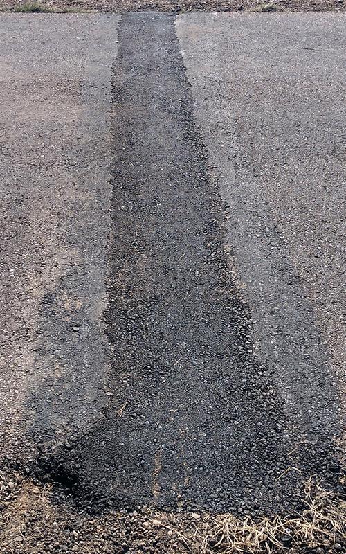 Street Crack After Crack Seal