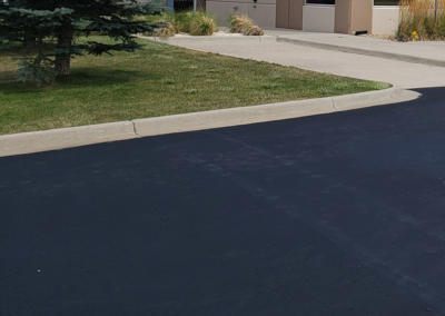Sealcoat Parking Lot by Black Pearl Paving - Crestone