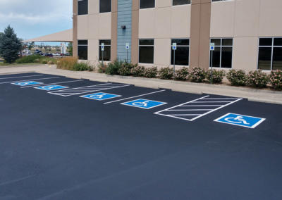 Sealcoat & Pavement Striping by Black Pearl Paving - Longmont