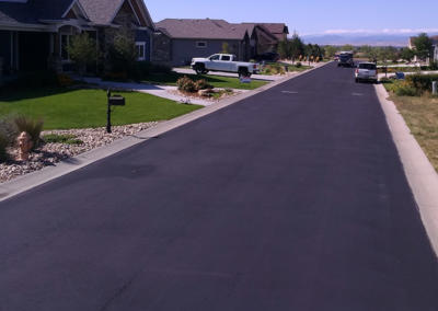 Sealcoat Residential Driveway by Black Pearl Paving - Auburn Estates